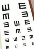 Eye-chart test. Eyechart in eye glasses store. photogarphy royalty free stock photos