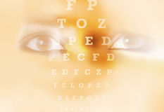 Eye chart test eye vision Stock Photos