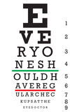 Eye Chart Vector Stock Images