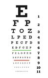 Eye chart VECTOR Stock Photo