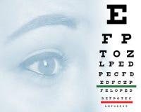 Eye Chart Woman Stock Images