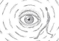 Eye che sguardi ad un uomo Fotografia Stock Libera da Diritti