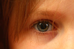 Eye of a child Stock Photography