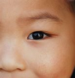 The eye of a Chinese boy Stock Image