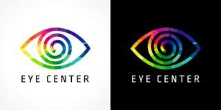 Eye clinic colored logo stock illustration