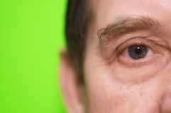Eye in close up. Eye of the man Royalty Free Stock Photography