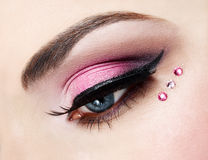 Eye close up with beautiful make-up Royalty Free Stock Images