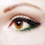 Eye close up with beautiful make-up Stock Photo