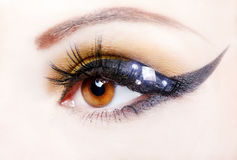 Eye close up with beautiful make-up Stock Image