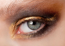 Eye close-up beauty with creative makeup Royalty Free Stock Photos