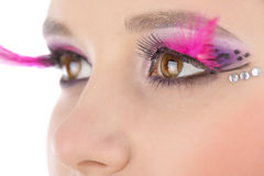 Eye close-up with bright makeup Royalty Free Stock Image