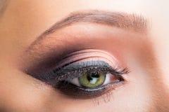 Eye close up makeup Stock Photo