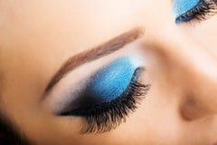 Eye close up makeup Royalty Free Stock Photos