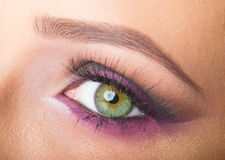 Eye close up makeup Stock Images