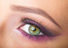 Eye close up makeup Stock Images