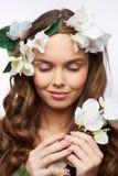 Eye-closed beauty Royalty Free Stock Photo