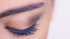 Eye closeup stock video