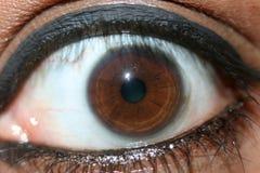 Eye Closeup of Beautiful Young Indian Lady Royalty Free Stock Photos