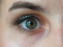Eye closeup female Royalty Free Stock Images