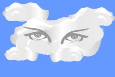 Eye Cloud Royalty Free Stock Images