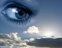 Eye_in_cloud Royalty Free Stock Photos
