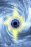 Eye in clouds spiral Stock Photo