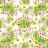 Eye color abstract pattern on a white background Royalty Free Stock Images
