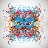 Eye on a colored background. Esoteric illustration Stock Photo