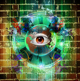 Eye on a colored background Royalty Free Stock Images