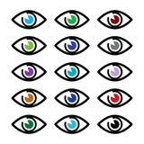 Eye colors sight icons set -  icons set Stock Photography