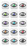 Eye colors sight icons set -  icons set Royalty Free Stock Photo