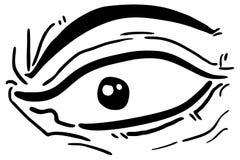 Eye comic Stock Image