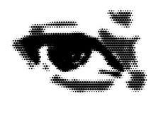 Eye con el espacio para su texto, vector Imagen de archivo libre de regalías