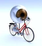 Eye con le armi e le gambe che guidano un bycicle Immagine Stock Libera da Diritti