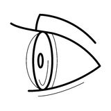 Eye with contact lens icon Royalty Free Stock Image