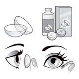 Eye Contact Lenses Collection Royalty Free Stock Photo