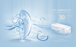 Eye contacts ads template Royalty Free Stock Photography