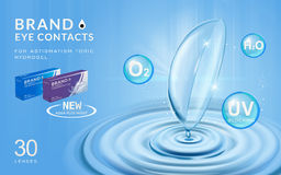 Eye contacts ads template Royalty Free Stock Photos