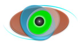 Eye contact lenses logo Stock Images