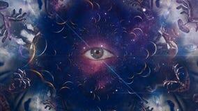 Eye in cosmic fractal