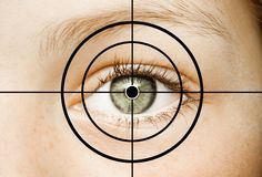 Eye in Crosshair stock images