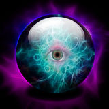 Eye. Crystal Ball with all seeing eye Royalty Free Stock Photography