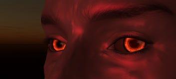 Eye of the daemon. Scene of the eye of the daemon Royalty Free Stock Photo