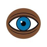 Eye on dark skin illustration. Blue eye on dark skin illustration Royalty Free Stock Image
