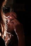 eye den indiska makeupmodellen Royaltyfri Foto