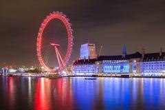 eye den london natten Arkivbild