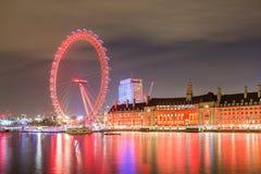 eye den london natten Royaltyfri Bild