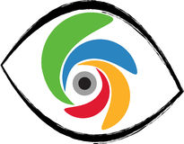 Eye design. Vector art of a eye design with white background Stock Images