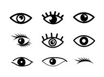 Eye designs. Over white background vector illustration Royalty Free Stock Photos