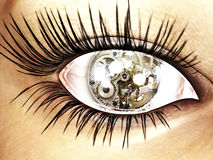 Eye. Digital visualization of an eye Royalty Free Stock Photo